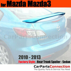 Painted Abs Rear Trunk Spoiler For 2010 2013 Mazda 3 Mazda3 16w Black Mica