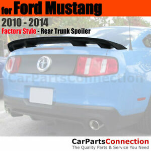 Painted Abs Rear Trunk Spoiler For 2010 Ford Mustang 4 Pedestal Ci Grabber Blue