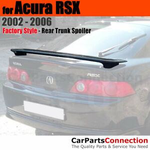 Primer Unpainted Abs Rear Aero Trunk Spoiler 2 Post Wing For 2002 2006 Acura Rsx