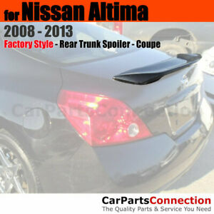Primer Unpainted Abs Rear Trunk Spoiler Wing For 08 13 Nissan Altima 2dr Coupe