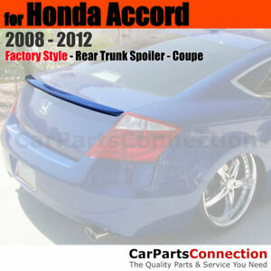 Primer Abs Rear Trunk Spoiler Wing For 2008 2012 Honda Accord 2dr Coupe Lip