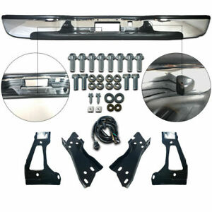 New Gm1103122 Rear Chrome Step Bumper For Chevy Silverado Gmc Sierra 1999 2006