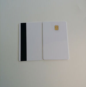 30pcs Magnetic Stripe Card With Chip Sle4442 1 2 Hico Inkjet Printable Card