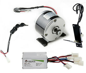 250w 24v Electric Motor 1016 speed Controller foot Pedal Throttle keylock Switch