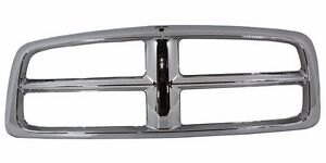 Ch1200260 New Outer Grille Shell Chrome For Dodge Ram 1500 2500 3500 2002 2005