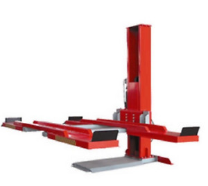 4 400lbs Hydraulic Drive Single Post Double Parking Car Lift For Home Garage