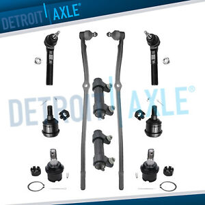 10pc Suspension Kit Front Tie Rods Ball Joints 2003 2008 Dodge Ram 2500 3500 4x4