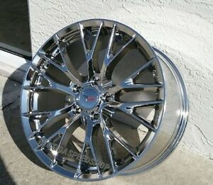 Chrome C7 z06 Style Corvette Wheels Fits 2014 2017 C7 Stingray 18x8 5 19x10