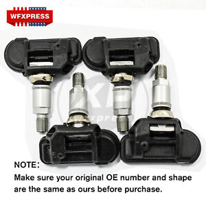 4 Pcs New Tpms Tire Pressure Monitor Sensors For Mercedes Smart A0009050030q03