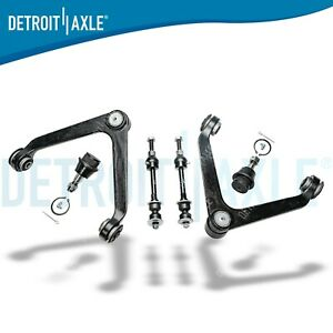 6pc Front Upper Control Arm Sway Bar Link 2002 2003 2004 2005 Dodge Ram 1500 2wd