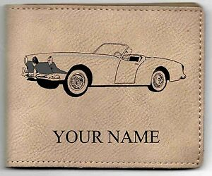 Kaiser Darrin Leather Billfold With Drawing And Your Name On It Nice Quality