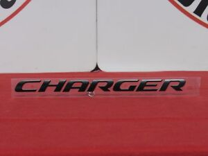 Dodge Charger Satin Black Charger Decklid Nameplate New Oem Mopar