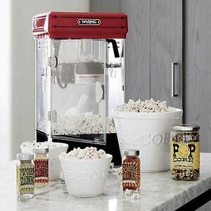 Movie Theater Style Popcorn Machine Maker Home Red Butter Commercial Nonstick