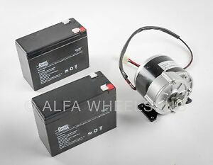 350w 24v Electric Motor F Bicycle Ebike Scooter Gear Reduction 410 W Batteries