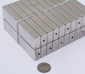 5 10 25 Pcs 10mm X 20mm X 40mm Square Magnets N45 Neodymium Rare Earth 67