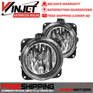 Fit Winjet 02 05 Lincoln Ls Mustang Cobra Focus Svt Oe Fog Lights Pair Clear