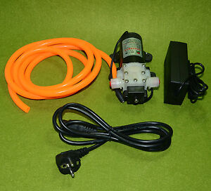 Dc12v 45w Diaphragm Water Pump Come With Power Adapter And 2m Tube eu Plug