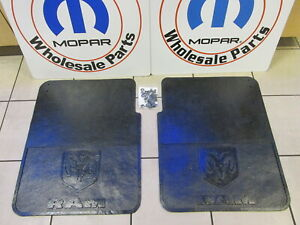 Dodge Ram 3500 Dually Heavy Duty Rubber Rear Mud Flaps New Oem Mopar
