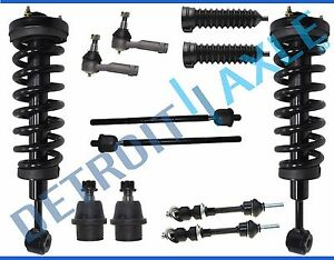 Ford F 150 Lincoln Mark Lt 4wd Front Strut Tierod Ball Joint Sway Bar 12pc Kit