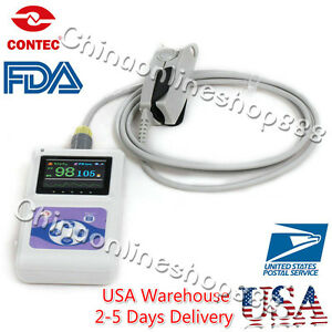 Us Stock Fda Handheld Pulse Oximeter Oxygen Spo2 Monitor Cms60d Usb Pc Software