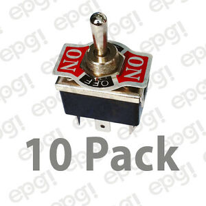 10pk Dpdt C off Mom Oneside on off on Hd Toggle Switch 20a 125v 66 1955 10pk