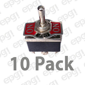 10pk Dpdt C off Mom Bothsides On off on Hd Toggle Switch 20a 125v 66 1851 10pk