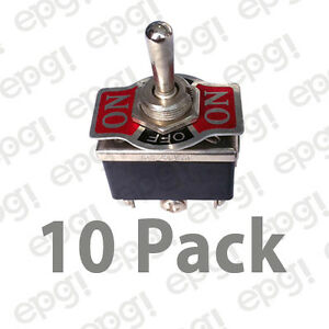 10pk Dpdt C off Mom Oneside On off on Hd Toggle Switch 20a 125v 66 1855 10pk