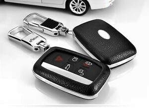 Car Remote Leather Case Fob Key Cover Fit For Land Rover Lr4 Range Rover Evoque