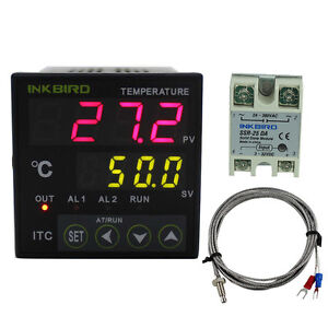 Digital Pid Temperature Temp Controller 110v Fan Heater Thermostat Brewing Relay