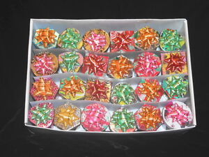 Ring Gift Jewelry Boxes Xmas Foil Ribbon Bow Case 48 Assorted New Wholesale
