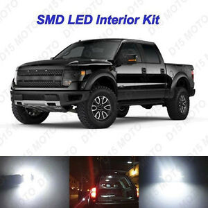 White Led Interior Bulbs Package Puddle License Plate Lights For Ford F150