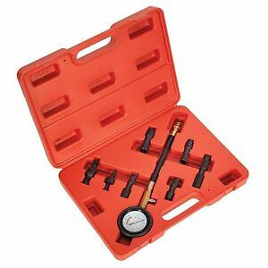 Sealey 8 Piece Petrol Compression Test Kit With 5 Adaptors Vse200