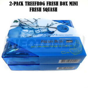2 pack Treefrog Fresh Box Air Freshener Mini 80g 2 8oz Jdm Scent Fresh Squash