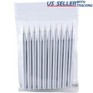 Delcast 10x Lead free Replacement Pencil Soldering Tip Solder Iron Tips 60w