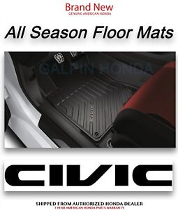 Genuine Oem Honda Civic 4dr All Season Floor Mat Set Mat 2016 2018 08p17 Tba 100