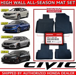 Genuine Oem Honda Civic All Season Floor Mat Set Mats 2016 2019 High Wall