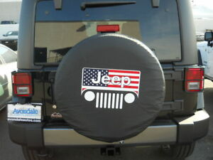 Jeep Wrangler Liberty All American Flag 33 Inch Soft Spare Tire Cover New