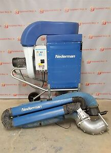Nederman Dust Fume Extraction Filter Box System W Arm Welding Collector