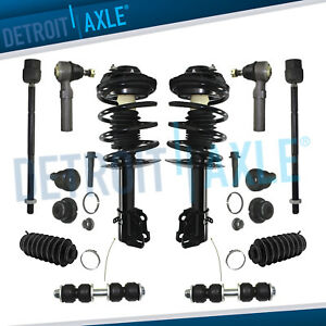 1995 1998 Dodge Plymouth Neon Front Struts Inner Outer Tie Rod Sway Bar Kit