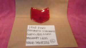 1940 Ford Nos Duolamp 22 Glass Taillight Lens Free Shipping