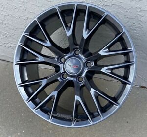 18 19 Competition Gunmetal Grey C7 z06 Style Wheels For 2005 2013 C6 Corvette