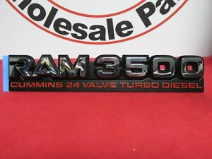Dodge Ram 3500 Chrome 24v Cummins Turbo Diesel Nameplate New Oem Mopar