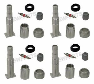 For Mercedes Tpms Wheel Valve Stem X4 Tire Pressure Monitoring R171 W204 W209