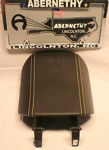 22859180 Transformers 2010 2015 Autobot Camaro Black Leather Console Lid Yellow