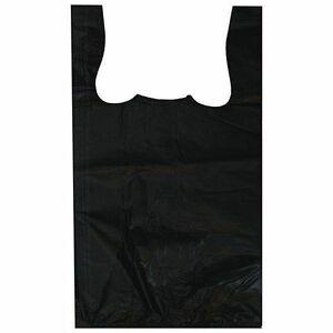 1 10 8x4 5x15 8750 Carry Out Black Plastic Bags ships Commercial Address Only