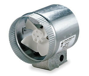 Tjernlund 12 Round In line Air Duct Booster Fan 120 Volt Ef 12