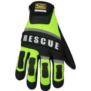 Ringers Gloves Green black Hi Vis Medium Ringers Gloves Rescue Glove 347 09