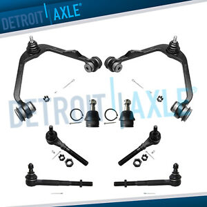 Ford F 150 Expedition 2wd Rwd 8pc Front Upper Control Arm Ball Joint Tie Rod Kit