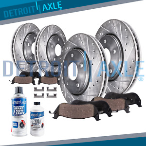 Front Rear Brake Rotors Brake Pads Dodge Ram 1500 Ceramic Pad Slotted Rotor