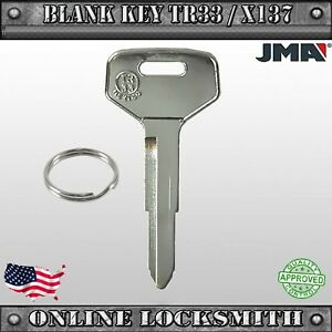 New Uncut Replacement Key For Toyota Vehicles Blank Key Old Models Tr33 X137